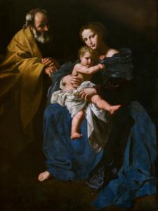 Bartolomeo Cavarozzi (Viterbo 1587, Roma 1625) Sacra famiglia olio su tela