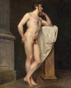 Atelier di Jacques Louis David (Prima metà del XIX secolo) Nudo accademico Olio su tela