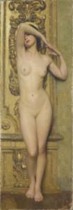 Giacomo Grosso (Cambiano 1860, Torino 1938) Nudo di donna Olio su tela