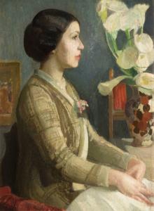 Evangelina Alciati (Torino 1883-1959) Ritratto di Fiorenza Boccalatte Olio su tela