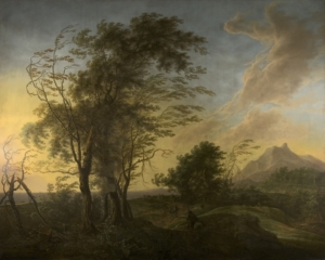 saftleven-herman_paesaggio-al-tramonto_inv-53