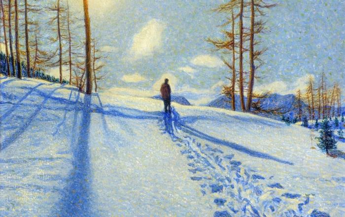 Il pittore Matteo Olivero