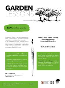 GARDEN LESSONS - PAV Parco Arte Vivente